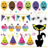 Halloween-Partijreeks stock illustratie