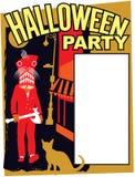 Halloween-Partijuitnodiging stock foto