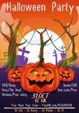 Halloween-Partijvlieger stock illustratie