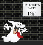 Halloween Party. Ghost on his way to a Halloween Party Royalty Free Stock Photography