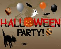 Halloween-Party. Lizenzfreie Stockfotografie