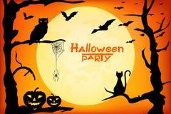 Halloween_party 向量例证