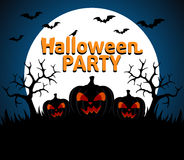 Halloween Party background blue Royalty Free Stock Photography