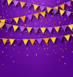 Halloween Party Background with Colored Bunting Pennants Royalty Free Stock Photo
