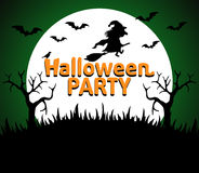 Halloween Party background green Stock Image