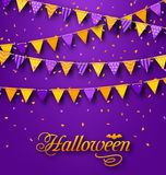 Halloween Party Background with Hanging Triangular String Royalty Free Stock Photography