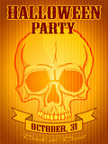 Halloween Party Background with Human Skull Royalty Free Stock Images