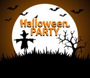 Halloween Party background orange Stock Image