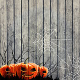 Halloween Party Background with Pumpkin Stock Photo