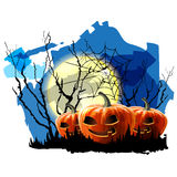 Halloween Party Background with Pumpkin Royalty Free Stock Image