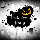 Halloween party. Background pumpkin banner illustration Royalty Free Stock Image