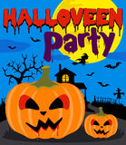 Halloween party background with pumpkin Royalty Free Stock Images