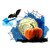 Halloween Party Background with Pumpkin Stock Photos