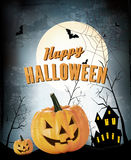 Halloween Party Background with Pumpkins. Stock Images