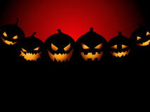Halloween Party Background with Pumpkins Stock Images