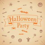 Halloween party background. Vector template for design. Royalty Free Stock Photography