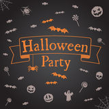 Halloween party background. Vector template for design. Royalty Free Stock Photo