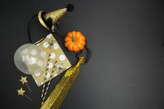 Halloween party background. View from above Royalty Free Stock Images