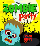 Halloween party background with zombie Stock Photography