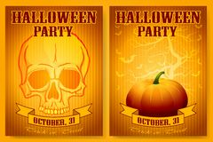 Halloween Party Backgrounds Set Royalty Free Stock Photography