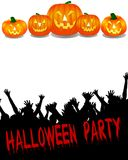 Halloween Party Banner Royalty Free Stock Images