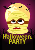 Halloween Party banner with Mummy Stock Photography