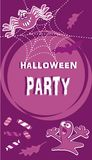Halloween party, banner, vector icon Stock Image