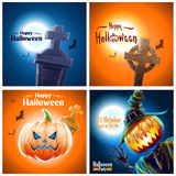 Halloween party banners Stock Photos