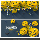 Halloween party banners Stock Photo
