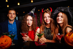 Halloween party at bar Royalty Free Stock Photos