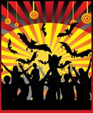 Halloween party black-red colors illustration Royalty Free Stock Image