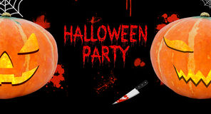 Halloween party blood background card Stock Photography