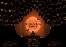 Halloween party booklet Stock Image