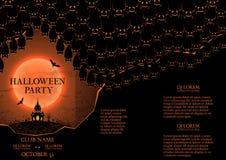 Halloween party booklet Stock Photos