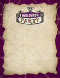 Halloween Party Border. A spooky, fun border/frame that can be used for Halloween invites and events Royalty Free Stock Photo