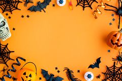 Halloween party border stock image