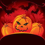 Halloween party card. With pumpkin Royalty Free Stock Images