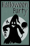 Halloween party card Royalty Free Stock Photos