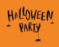 Halloween Party card Stock Photos