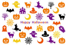 Halloween party-card Stock Image