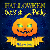 Halloween Party Card Template Royalty Free Stock Photo