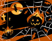 Halloween party card vector  Royalty Free Stock Images