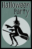 Halloween party card Stock Image