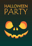 Halloween party carved face Royalty Free Stock Photography