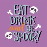 Halloween party celebration holiday brochure invitation cards vector illustration Stock Image