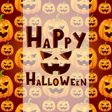 Halloween party celebration invitation card vector illustration pumpkin background design Stock Images