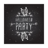 Halloween party on chalkboard background Stock Photography