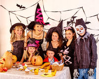 Halloween party with children Royalty Free Stock Photo