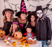 Halloween party with children Royalty Free Stock Images