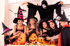 Halloween party with children Stock Images